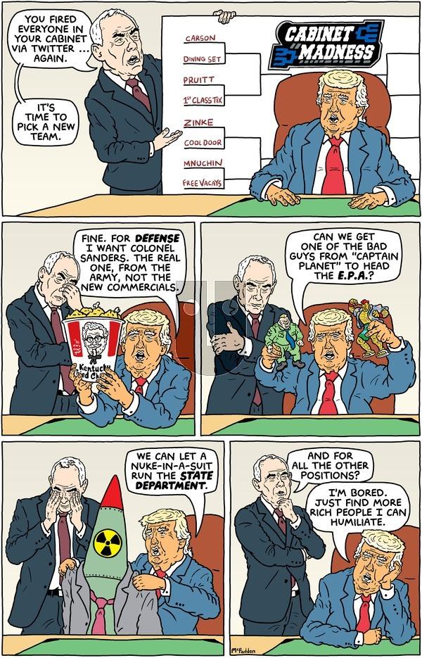 Brian McFadden - Sunday March 18, 2018 Comic Strip
