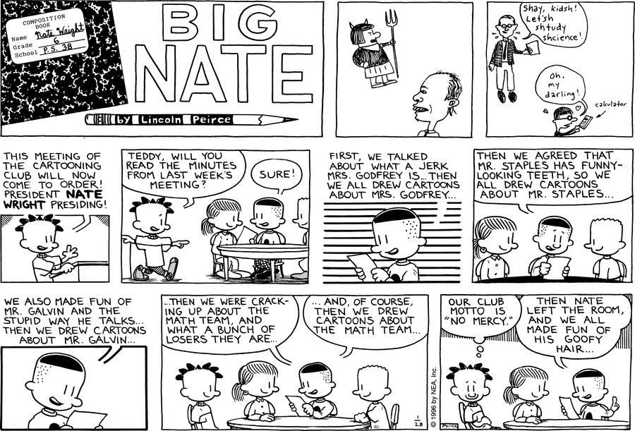 Big Nate Comic Strip for January 28, 1996