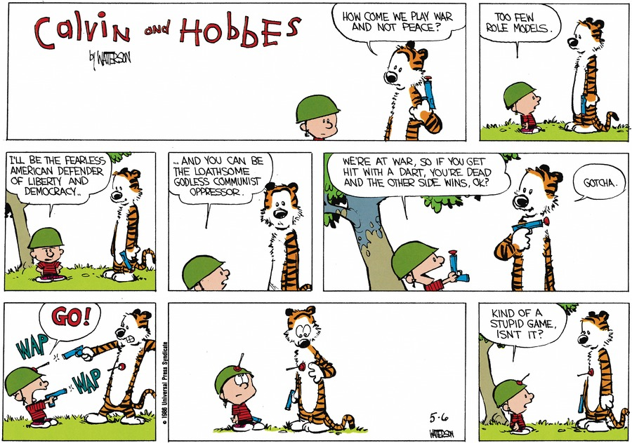 Calvin and Hobbes Comic Strip for June 23, 1991