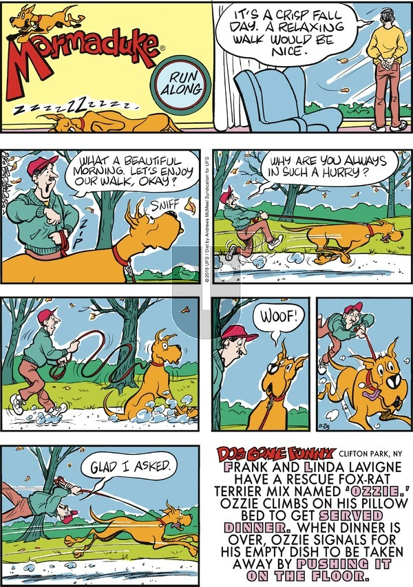 Marmaduke on Sunday November 25, 2018 Comic Strip