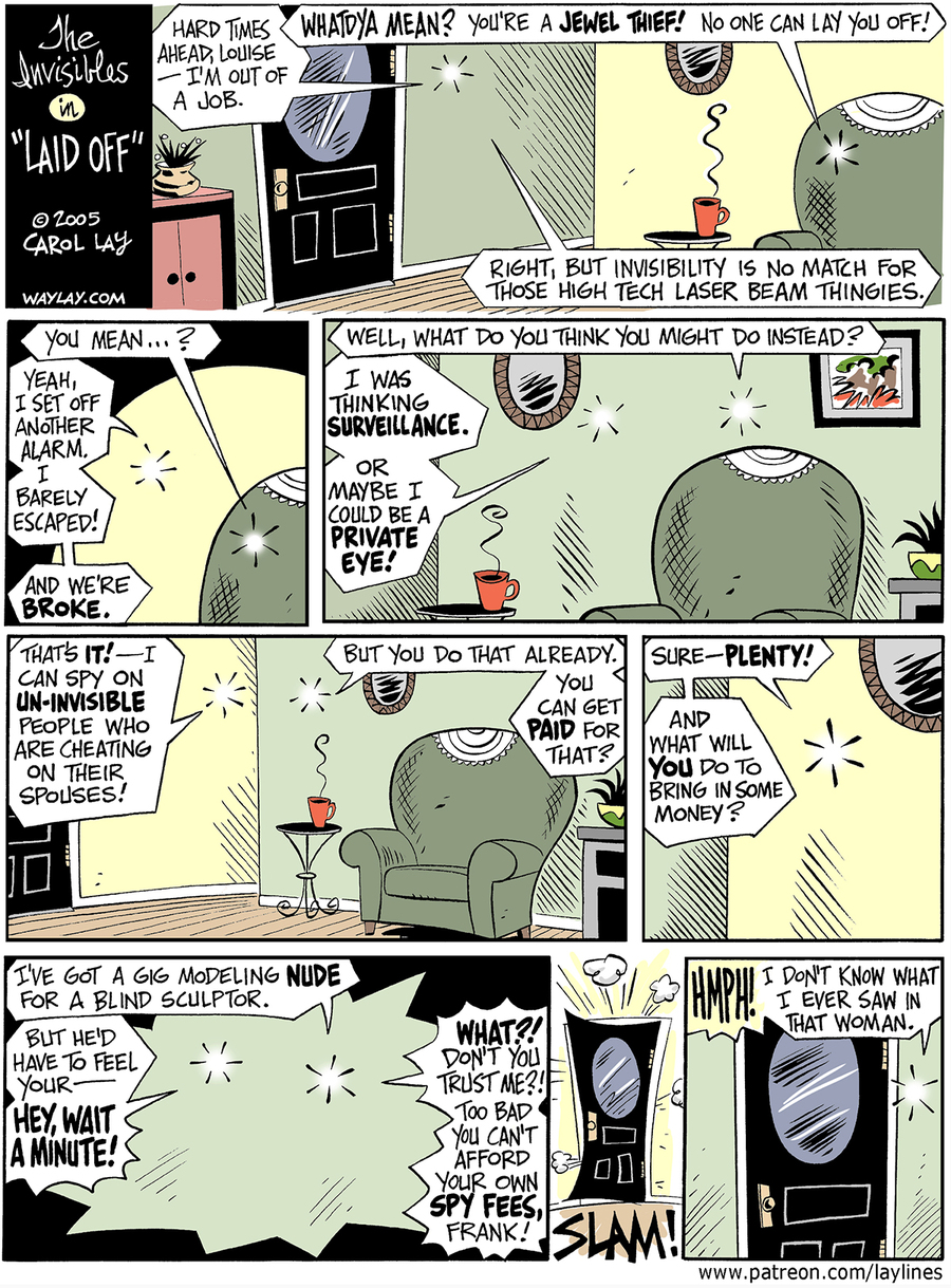 Lay Lines Comic Strip for February 10, 2016