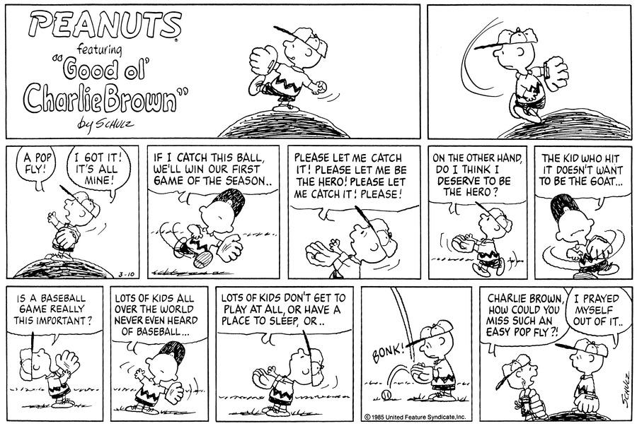Peanuts for Mar 10, 1985 Comic Strip