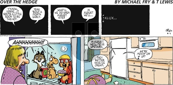 Over the Hedge on Sunday June 4, 2017 Comic Strip