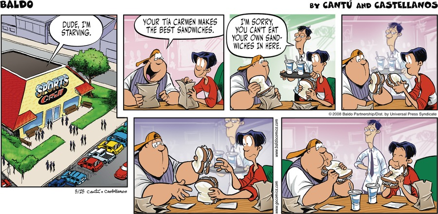 Baldo Comic Strip for May 25, 2008