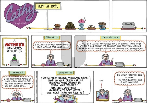 Cathy on Sunday January 10, 2010 Comic Strip