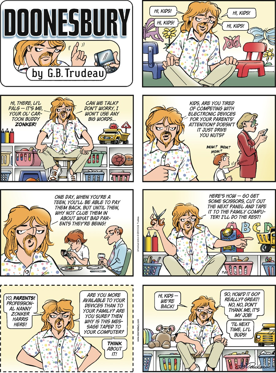 Doonesbury Comic Strip for July 25, 2010