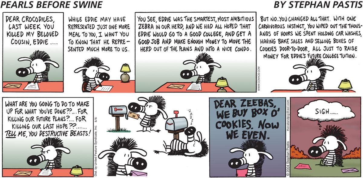 Pearls Before Swine Comic Strip for June 06, 2004