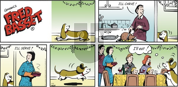 Fred Basset on Sunday December 22, 2019 Comic Strip