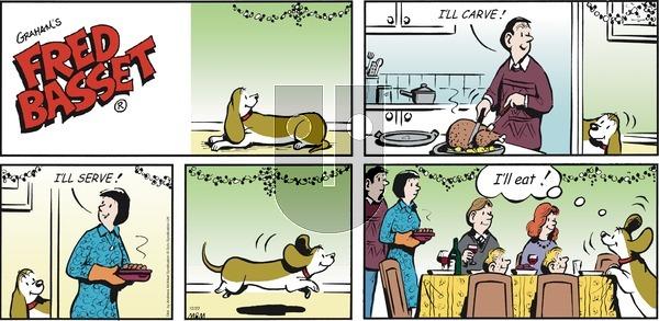 Fred Basset - Sunday December 22, 2019 Comic Strip