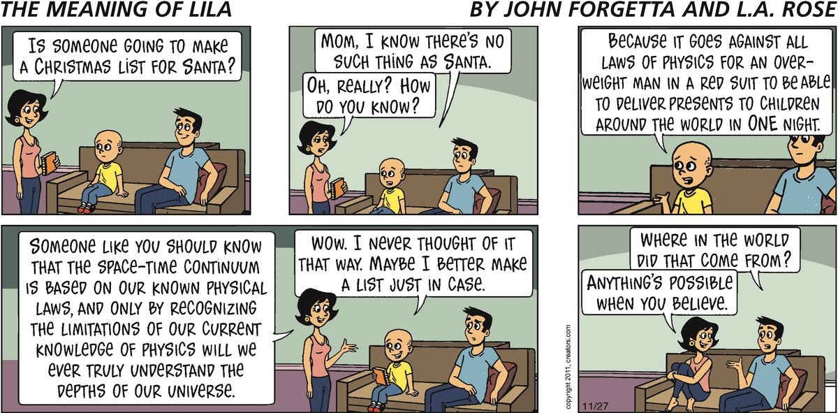 The Meaning of Lila for Nov 27, 2011 Comic Strip
