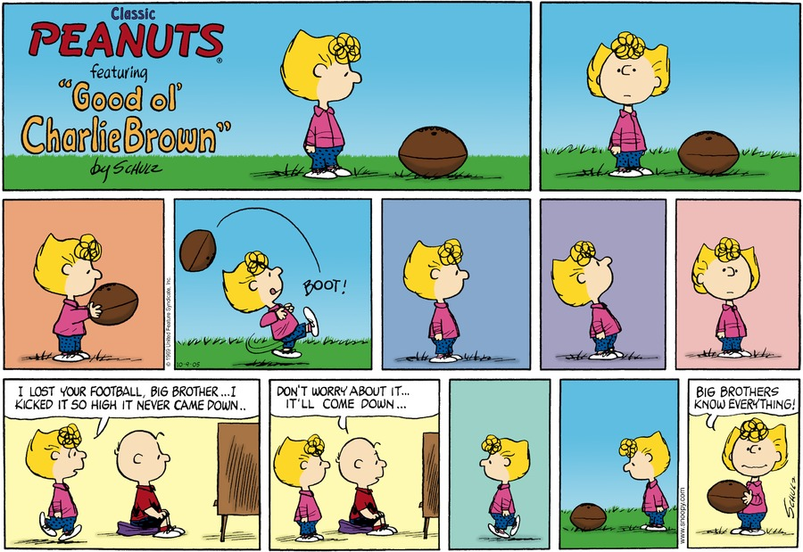Peanuts Comic Strip for October 09, 2005