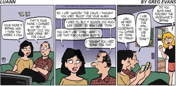 Luann - Sunday August 3, 2014 Comic Strip