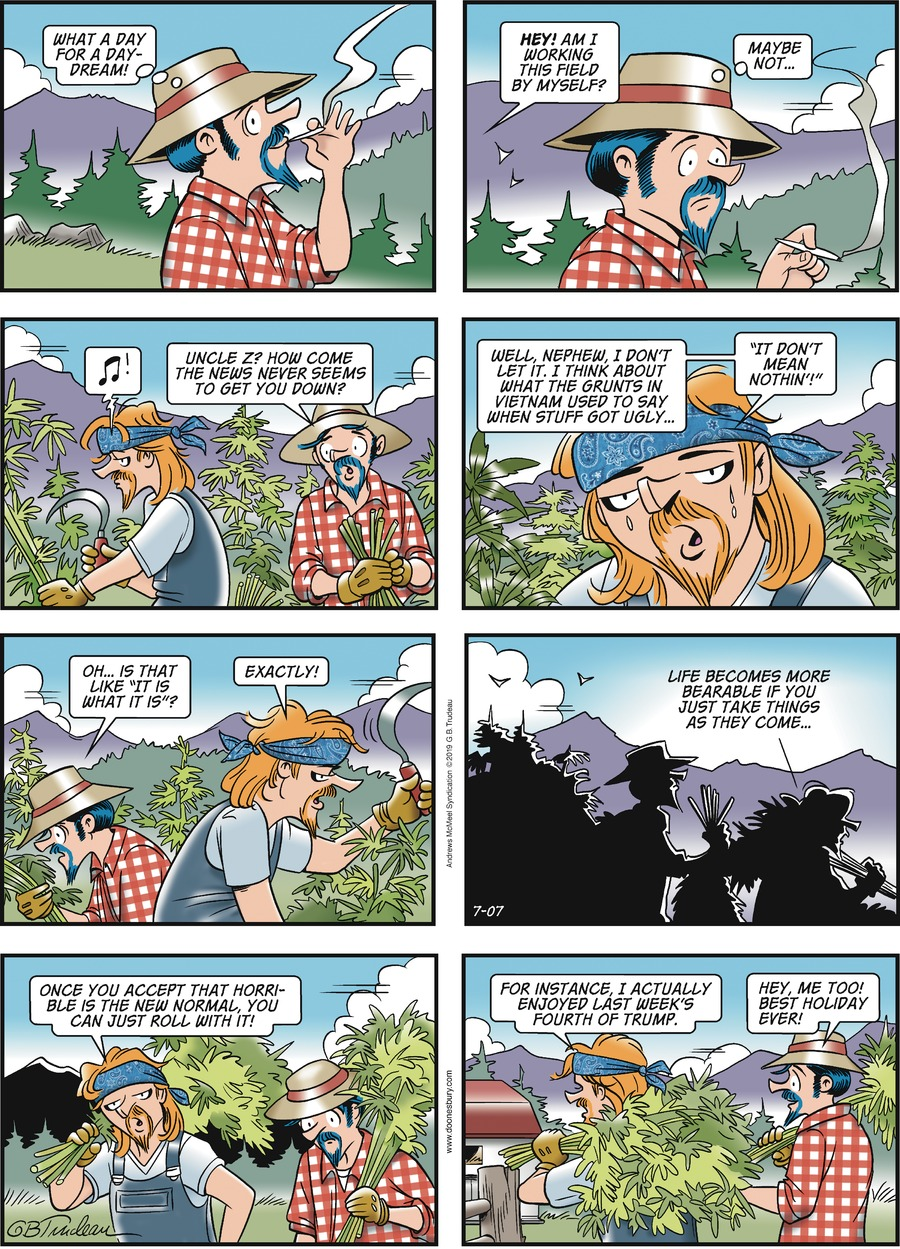 Doonesbury Comic Strip for July 07, 2019