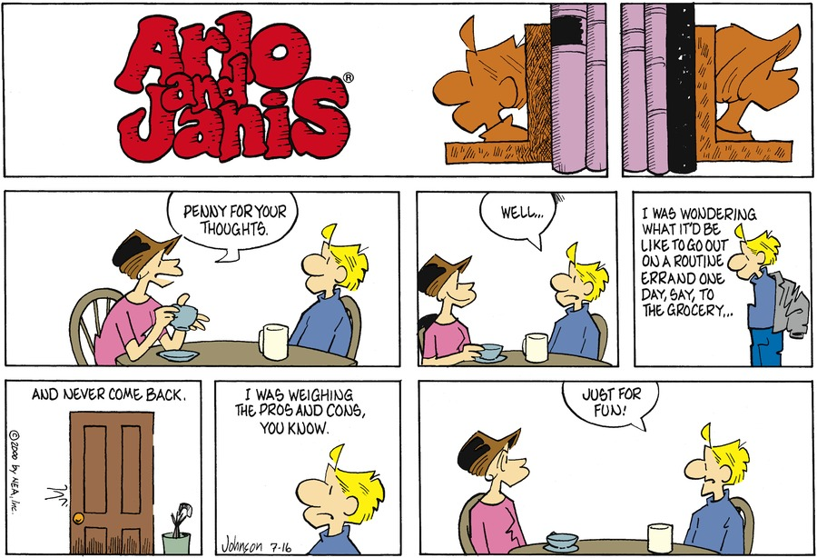 Arlo and Janis Comic Strip for July 16, 2000