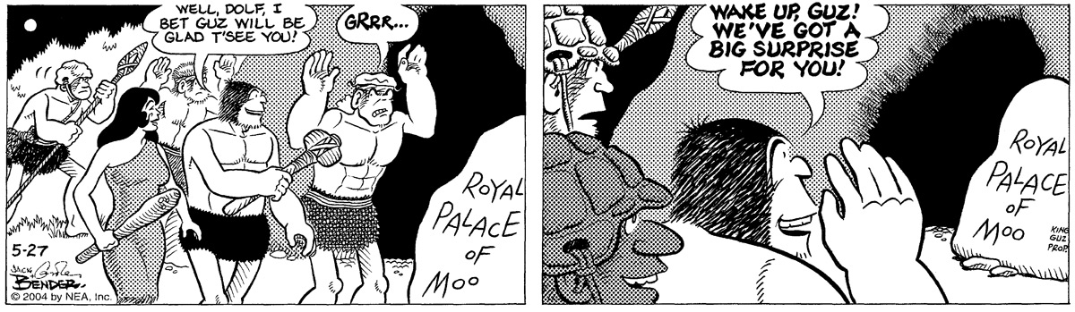 """""Well, Dolf, I bet Guz will be glad t'see you!""