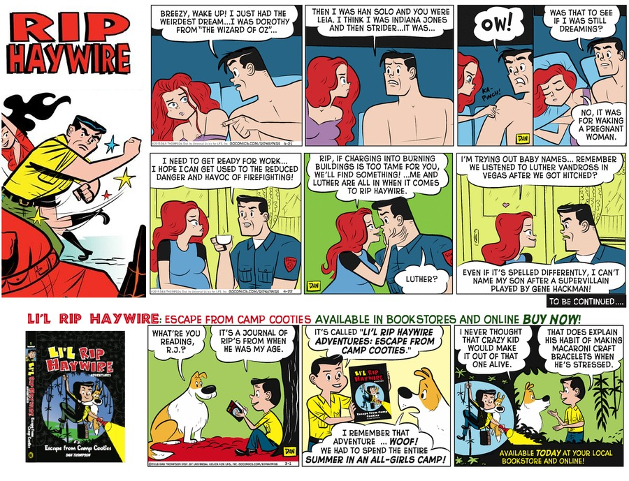 Rip Haywire Comic Strip for February 26, 2017