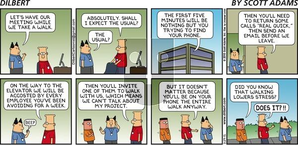 Dilbert on Sunday March 29, 2015 Comic Strip