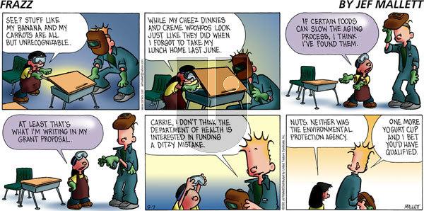 Frazz on Sunday September 7, 2003 Comic Strip
