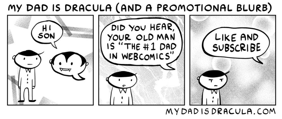 My Dad is Dracula Comic Strip for June 03, 2020