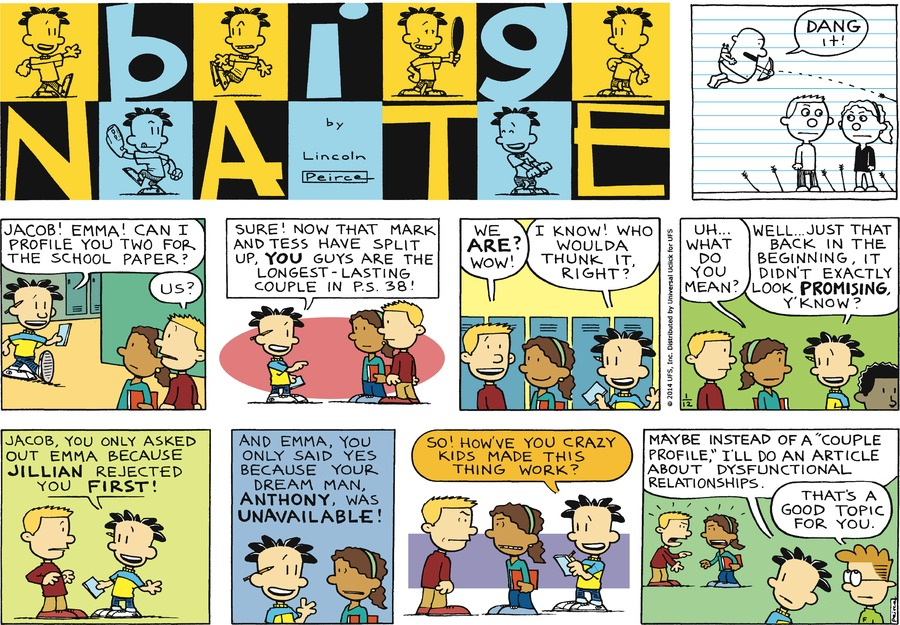 Big Nate Comic Strip for January 12, 2014