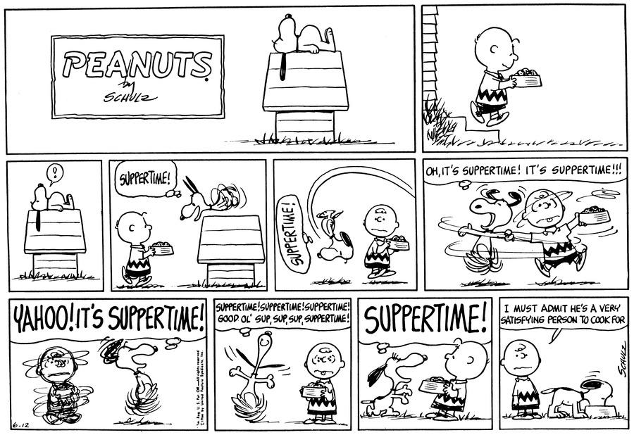 Peanuts Comic Strip for June 12, 1966