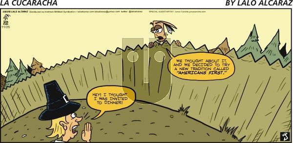 La Cucaracha on Sunday November 25, 2018 Comic Strip
