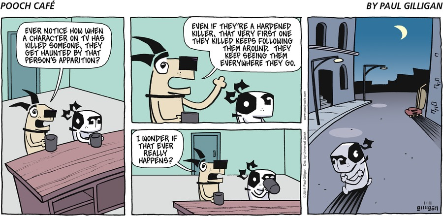 Pooch Cafe Comic Strip for January 11, 2015
