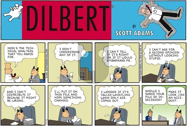 Dilbert on Sunday November 21, 2004 Comic Strip