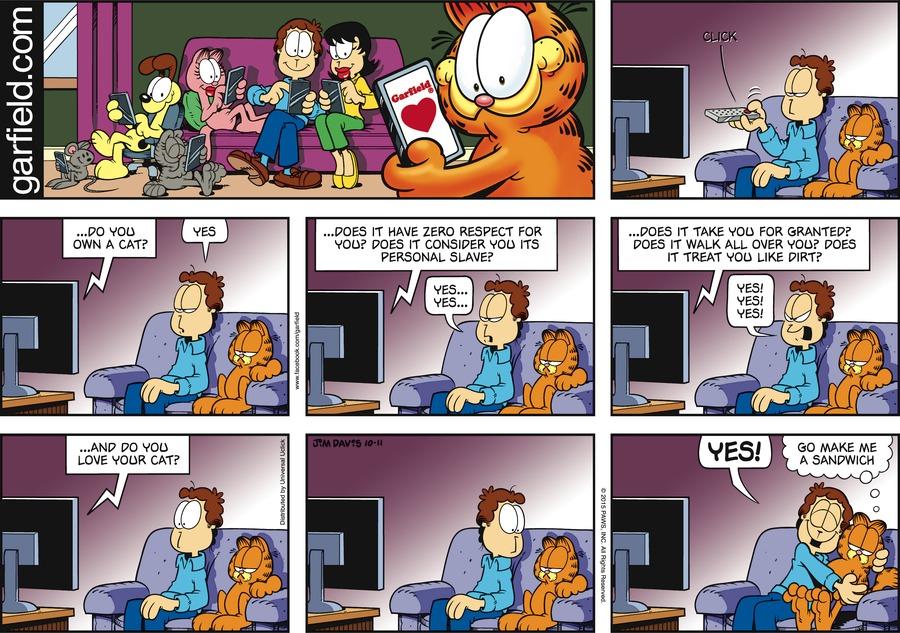 Garfield Comic Strip for October 11, 2015