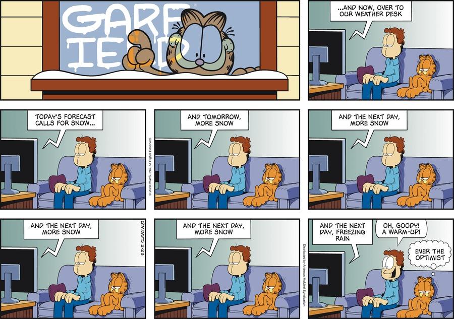 Garfield Comic Strip for February 23, 2020