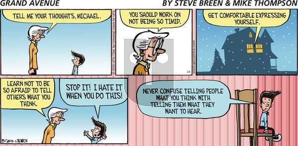 Grand Avenue on Sunday February 8, 2015 Comic Strip