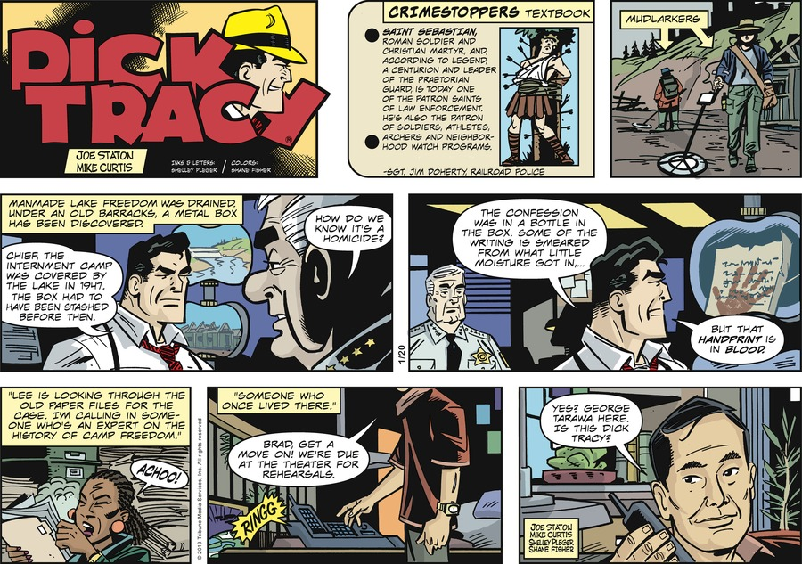 Dick Tracy Comic Strip for January 20, 2013
