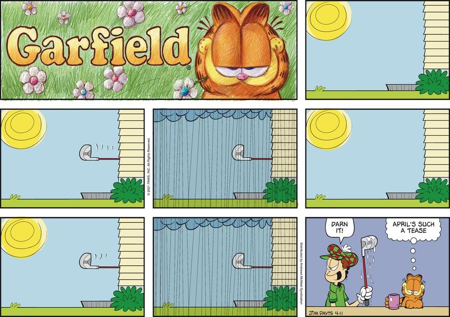 Garfield by Jim Davis on Sun, 11 Apr 2021