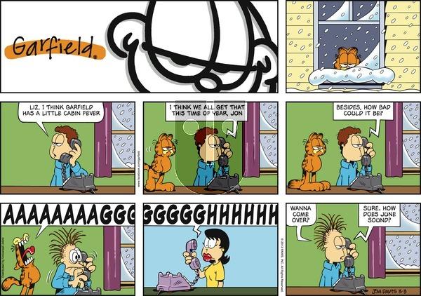 Garfield - Sunday March 3, 2013 Comic Strip