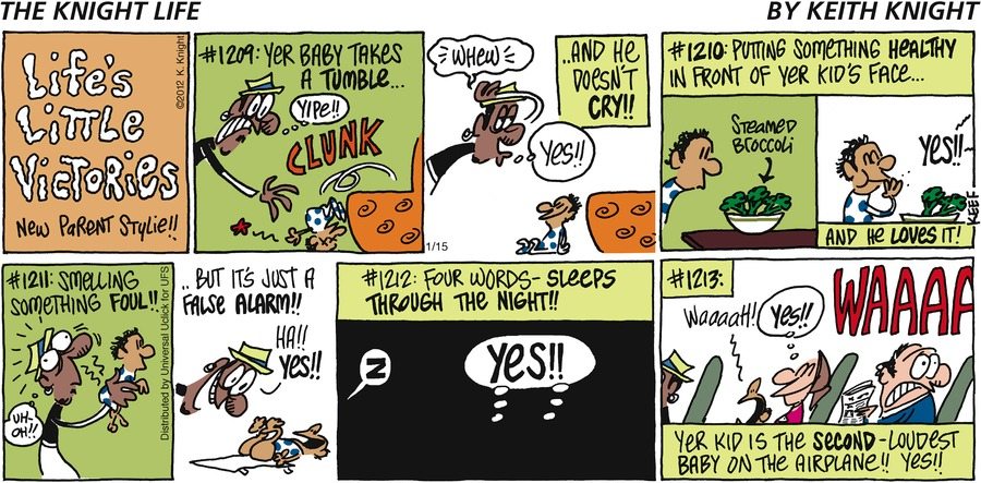 The Knight Life Comic Strip for January 15, 2012