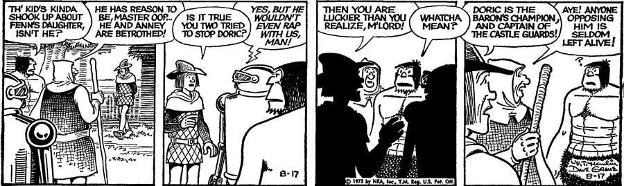 Alley Oop Comic Strip for August 17, 1972