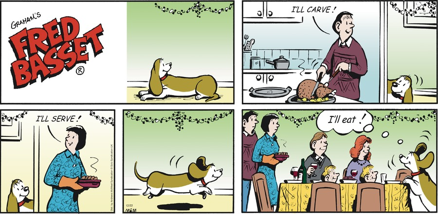 Fred Basset Comic Strip for December 22, 2019