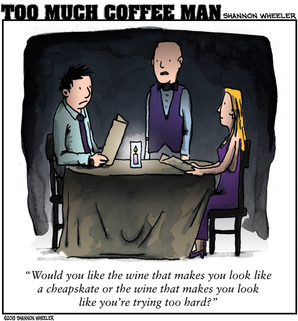 Too Much Coffee Man Comic Strip for May 20, 2015