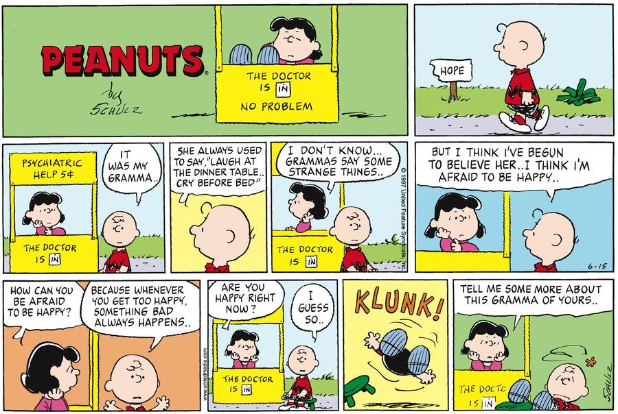 Peanuts Comic Strip for June 15, 1997