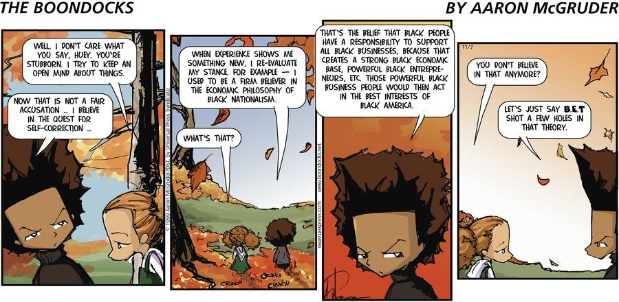 The Boondocks for Nov 7, 1999 Comic Strip