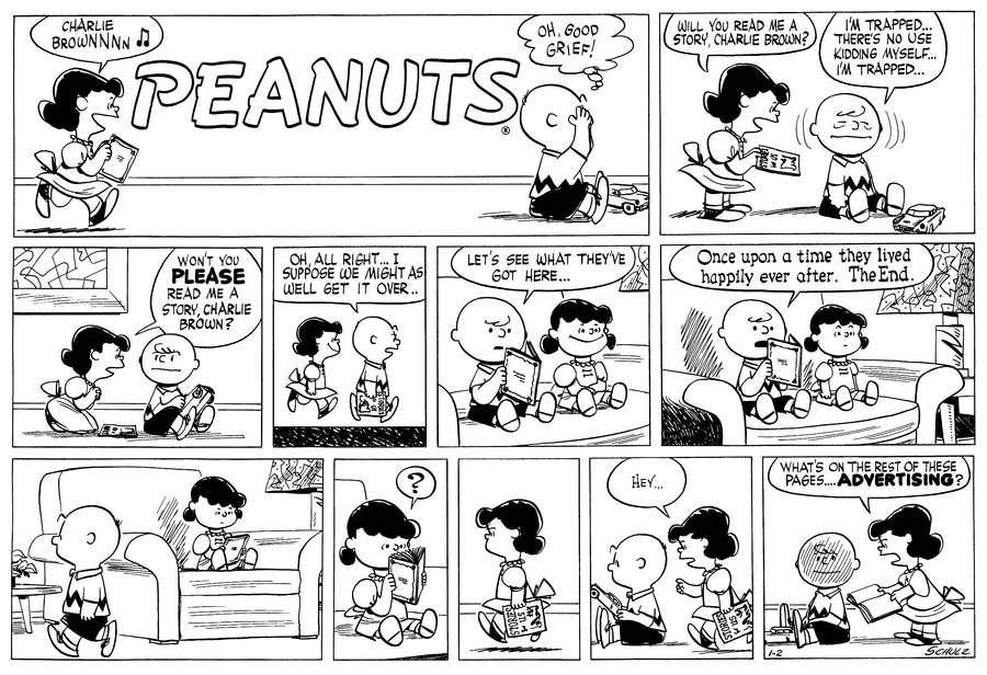 Peanuts for Jan 2, 1955 Comic Strip