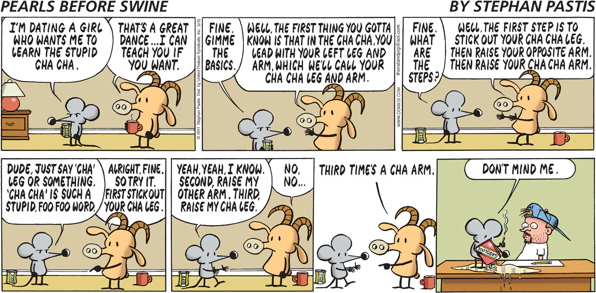 Pearls Before Swine Comic Strip for May 15, 2011