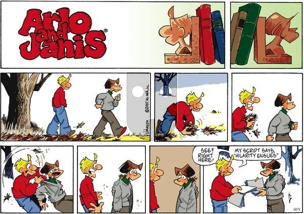 Arlo and Janis on Sunday December 1, 2002 Comic Strip