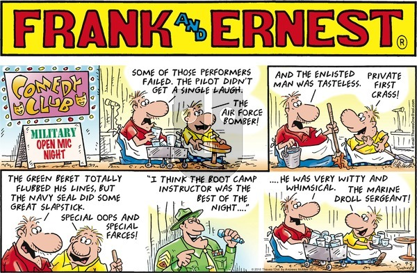Frank and Ernest - Sunday September 2, 2018 Comic Strip