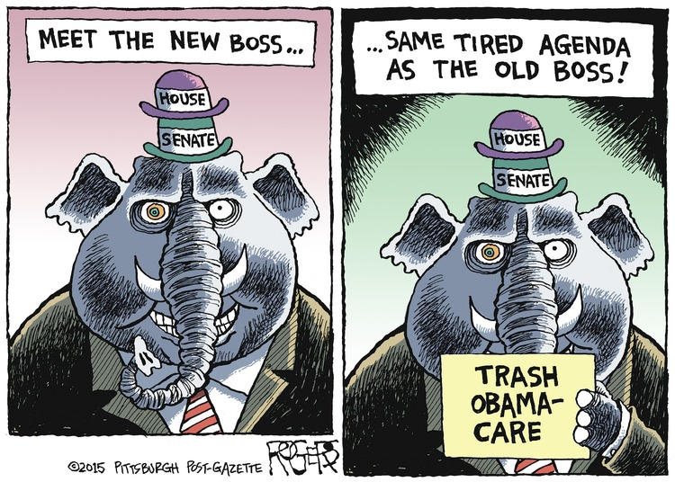 Rob Rogers Comic Strip for January 11, 2015