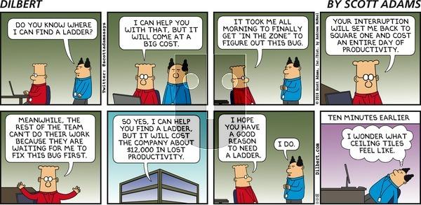 Dilbert on Sunday November 11, 2018 Comic Strip