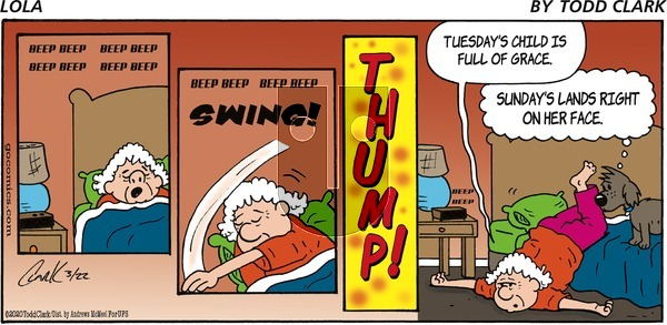 Lola on Sunday March 22, 2020 Comic Strip
