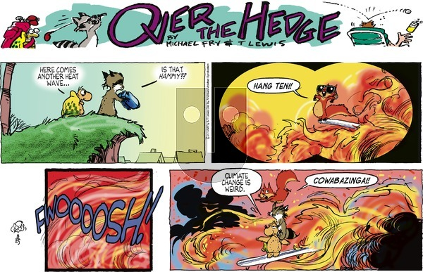 Over the Hedge on Sunday August 25, 2019 Comic Strip