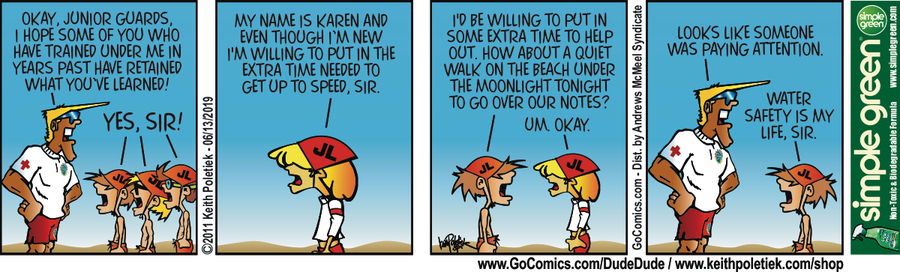 Dude and Dude Comic Strip for June 14, 2019