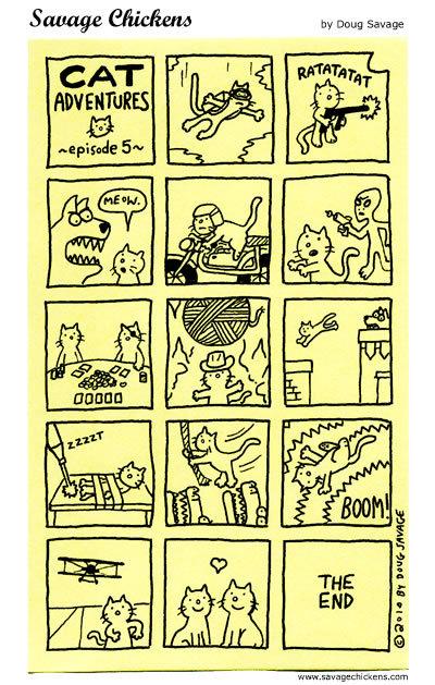 Cat Adventure  ~ Episode 5~  RATATATATAT  Meow,  ZZZZZT  BOOM!   THE END